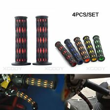 """22mm 7/8"""" Motorcycle Bicycle Handle Handlebar Grips Covers Rubber Nonslip 4pcs"""