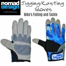 Nomad Casting Jigging Fishing Gloves - 1 Pair Gloves - Choose Size