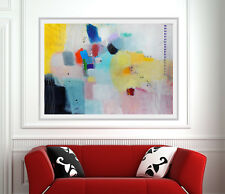MODERN Art Giclee Print Of Original Abstract Painting,Canvas Art,Horizontal