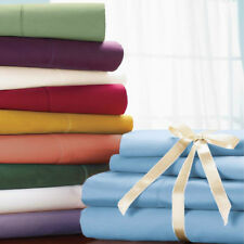 1000 TC 100% Soft Egyptian Cotton Hotel Bedding Items US-Sizes New Solid Colors