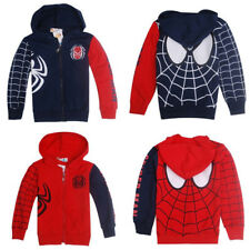 Fashion Kids Boys Toddlers Superhero Spiderman Zipper Sweatshirt Hoodies Jacket