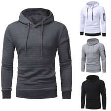 Mens Winter Slim Hoodie Warm Hoody Sweatshirt Coat Jacket Outwear Jumper Sweater