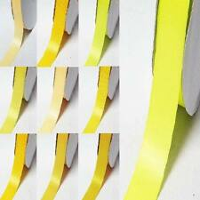 """by the 5 yards double sided satin ribbon 1/2"""" / 13mm yellow-orange"""