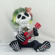 New Cool Singing Guitar Skeleton White and Red Stuffed Plush Toy Funny Doll
