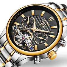 TEVISE Automatic Watch Mechanical Stainless Steel Wrist Watch Luminous Date Week