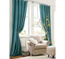"1 Piece Blue Luxury High Quality Window Curtain Panel 55"" Extra Wide Drapes"
