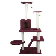 59 '' Cat Tree Bed Furniture Scratching Post Tower Condo Kitten Pet Play House