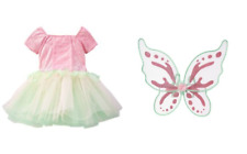 NWT Gymboree Woodland Fairy Halloween Costume Set 7 8 10 wings and dress  Girl