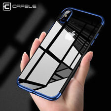 For iPhone X Edition Case Electroplate Clear Soft TPU Hybrid Slim Cover CAFELE