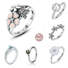 Fashion Jewelry 925 Silver Love Heart White Topaz Wedding Engagement Ring Sz6-10