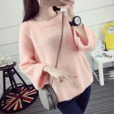 New Women Sweater Autumn Spring Girl Loose Pullover Knitted Jumper Top Blouse