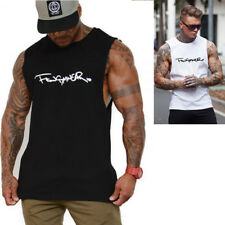 Men's Bodybuilding Tank Top Muscle T-Shirt Gyms Tee Fitness Workout Casual Vest