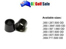 "4pcs .350"" PREMIUM BLACK GOLF WOOD FERRULE FERRULES-OD .480"" /.500""-Choose Specs"