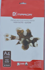Mirror A4 150gsm High Gloss Photo Paper (50 & 100 Sheets)