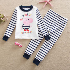 Kids Boys Toddler Peppa Pig Pajama Nightwear Outfit Set Home Wear Clothes 2-7T