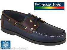 BEPPI PORTUGUESE HAND CRAFTED NAVY DECK SHOES  DESIGNER LEATHER BOAT SHOES