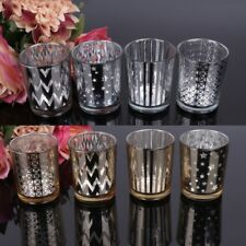 Candle Glass Holders Round Mosaic Tealight Votive Cup For Home Decoration Candle