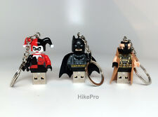 Minifig Custom Lego USB Flash Drive Keychain- batman bane harley quinn superman