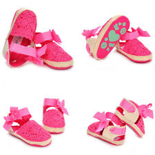 Hollow Multi-Color Woolen Bow-Knot Baby Girls Toddler Soft Soles Shoes
