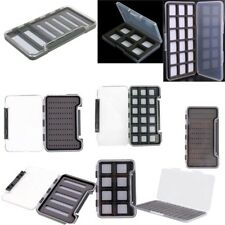 Slim Foam Insert Magnetic Compartments Fly Fishing Tackle Storage Box Flies Case
