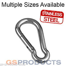 3mm - 12mm STAINLESS STEEL Carbine Snap Hook AISI 316 (Snap Hook)