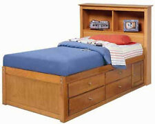 Twin or Full Bookcase Captains Bed Woodworking Plans / Patterns on Paper
