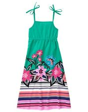 NWT Gymboree Jungle Bright Floral Maxi Dress many sizes Girls