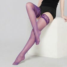 Sexy Women Lingerie Ultra thin Lace Top Stay Up Thigh High Silk Stockings GY9