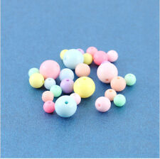 Multi-Color Acrylic Beads Jewelry Spacer Curtains Random Round Decor Beautiful