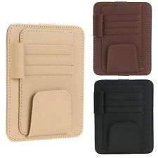 Car Auto Sun Visor Glasses Car Wallet Card Ticket Clip Holder Business Cards NIB