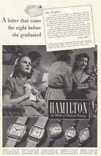 1938 Hamilton Watch: Letter That Came the Night Before Vintage Print Ad
