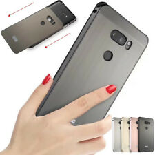 Luxury Brushed Aluminum Metal Frame Phone Hard Back Case Cover For LG V30