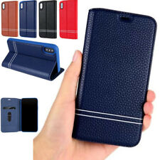 Luxury Flip PU Leather Magnetic Wallet Stand Cover Case For iPhone X 8 7 6S Plus