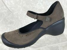 Privo by Clarks Brown Suede Mary Jane Wedge Heels Women's Shoes Size 9M