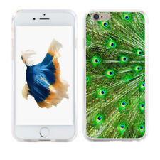 HK- Peacock Feather Print Case Cover for iPhone 8 Plus Samsung Galaxy S8 Graciou