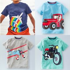 New Mini Boden Boys Vehicle Applique Jersey T-Shirt RRP £20 Sizes 1yr - 14yrs