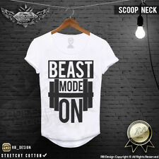 Beast Mode On Gym Tank Top Mens Muscle Scoop neck Tshirt Fitness Tee Shirt MD642
