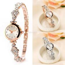 Fashion Women Stainless Steel Crystal Dial Quartz Bracelet Wrist Watch E456