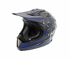 Cyclone ATV MX Motocross Dirt Bike Off-Road Helmet DOT/ECE Approved- Blue