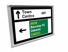 Barnsley A61 A628 road sign fridge magnet - Barnsley Oakwell