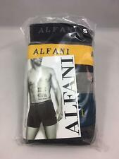 Alfani Mens Boxer Briefs 4 Pack 100% Combed Cotton Black Blue Gray Yellow