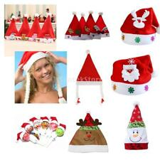 Christmas Hat Santa Claus Reindeer Snowman Bear Cap Kids Adult Holiday Gifts