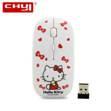 Cartoon 2.4Ghz Girl Wireless Mouse Hello Kitty Computer Gaming USB Receiver Mice