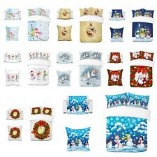 UK Made 3D Xmas Winter Snow Photo Print Duvet Quilt Cover or Blanket or Cushion
