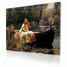 READY TO HANG CANVAS The Lady Of Shalott Waterhouse Frame For Bedroom Giclee
