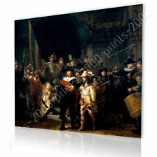 READY TO HANG CANVAS The Nightwatch Rembrandt Framed Decor Oil Painting Print