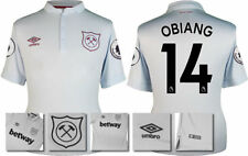 17 / 18 - ADIDAS ; WEST HAM 3RD KIT SHIRT SS + PATCHES / OBIANG 14 = KIDS