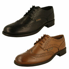MENS BEN SHERMAN SIMPSON LACE UP BROGUE BLACK TAN LEATHER SMART CASUAL SHOES