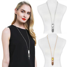 Retro Tassel Sweater Long Chain Pendant Gold Silver Plated Necklace Jewerly GT