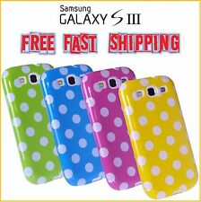 Samsung Galaxy S3 III i9300 FASHION TPU Polka Dots Case Cover FREE SHIPPING NEW